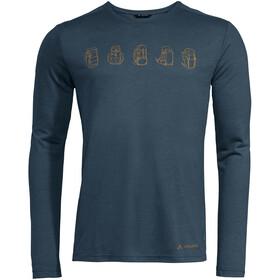 VAUDE Rosemoor II T-shirt z długim rękawem Mężczyźni, steelblue